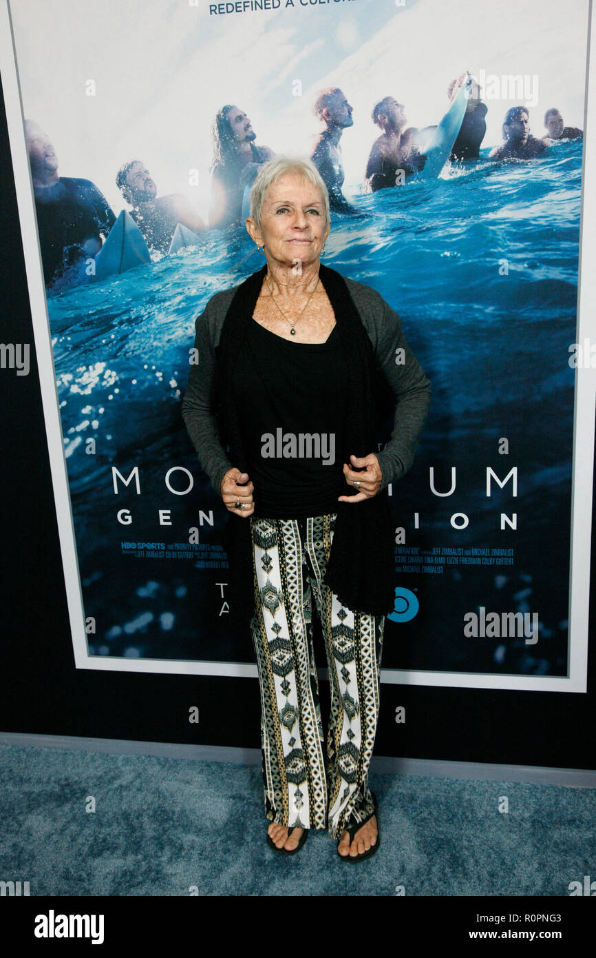 Santa Monica, CA. 05th Nov, 2018. Jeannie Chesser attends HBO's 'Momentum Generation' Premiere at The Broad Stage on November 05 2018 in Santa Monica CA. Credit: Cra Sh/Image Space/Media Punch/Alamy Live News - Stock Image