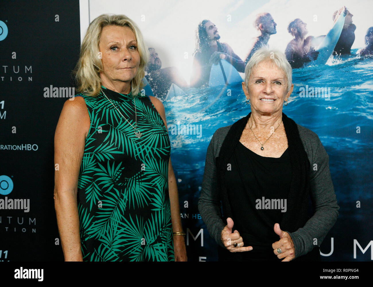 Santa Monica, CA. 05th Nov, 2018. Barbara Lancaster and Jeannie Chesser attend HBO's 'Momentum Generation' Premiere at The Broad Stage on November 05 2018 in Santa Monica CA. Credit: Cra Sh/Image Space/Media Punch/Alamy Live News - Stock Image