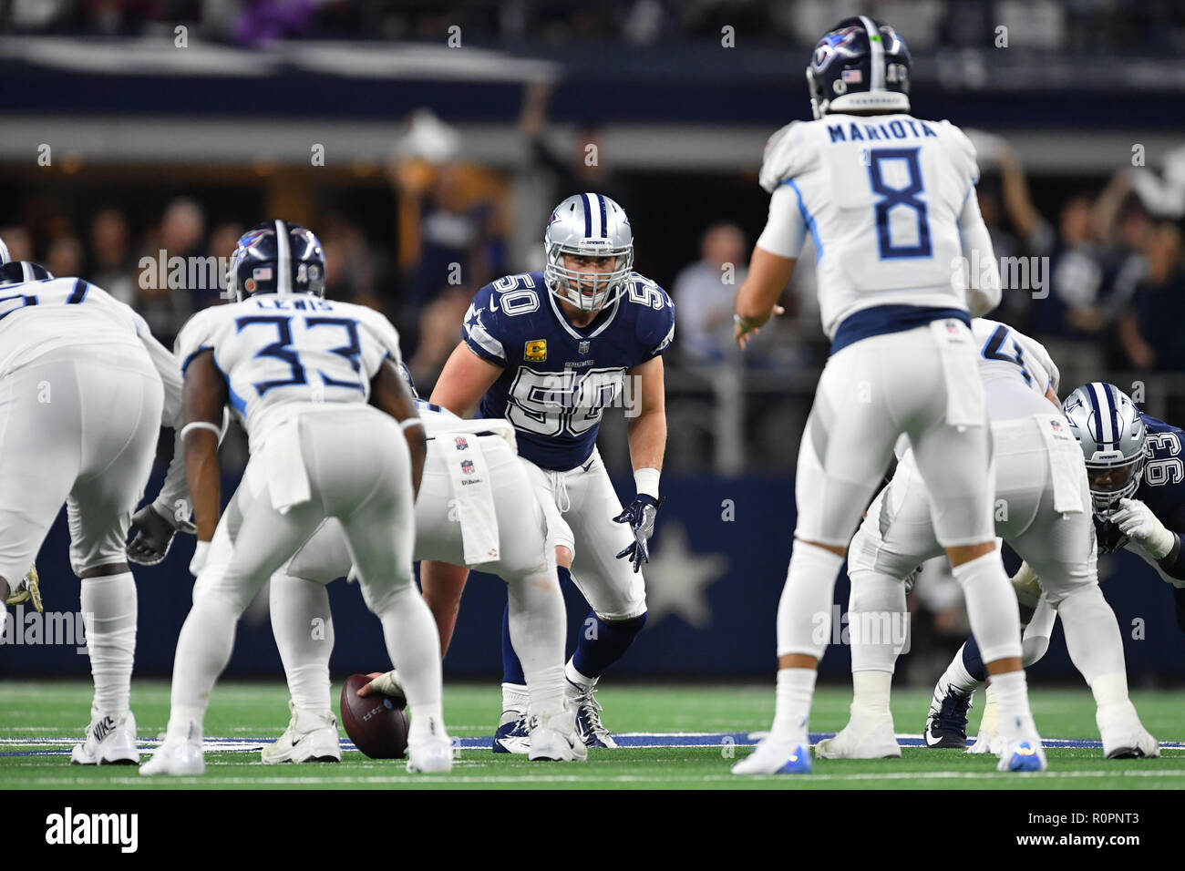 0dcab7f90 Dallas Cowboys linebacker Sean Lee (50) during the NFL football game  between the Tennessee Titans and the Dallas Cowboys at AT T Stadium in  Arlington