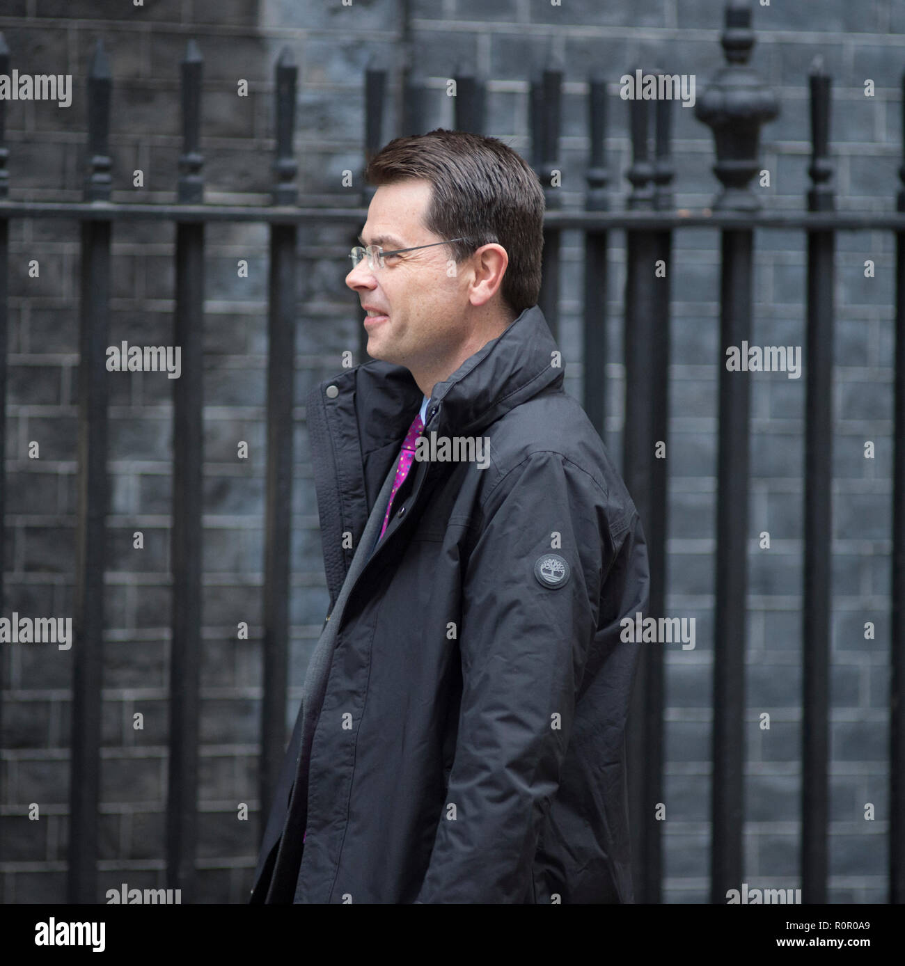 Downing Street, London, UK. 6 Nov 2018. James Brokenshire, Secretary of State for Housing, Communities & Local Government, arrives for Cabinet Meeting - Stock Image