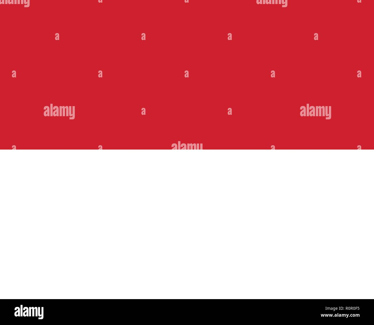 Vector image for Monaco flag. Based on the official and exact Monaco flag dimensions (5:4) & colors (186C and White) - Stock Vector