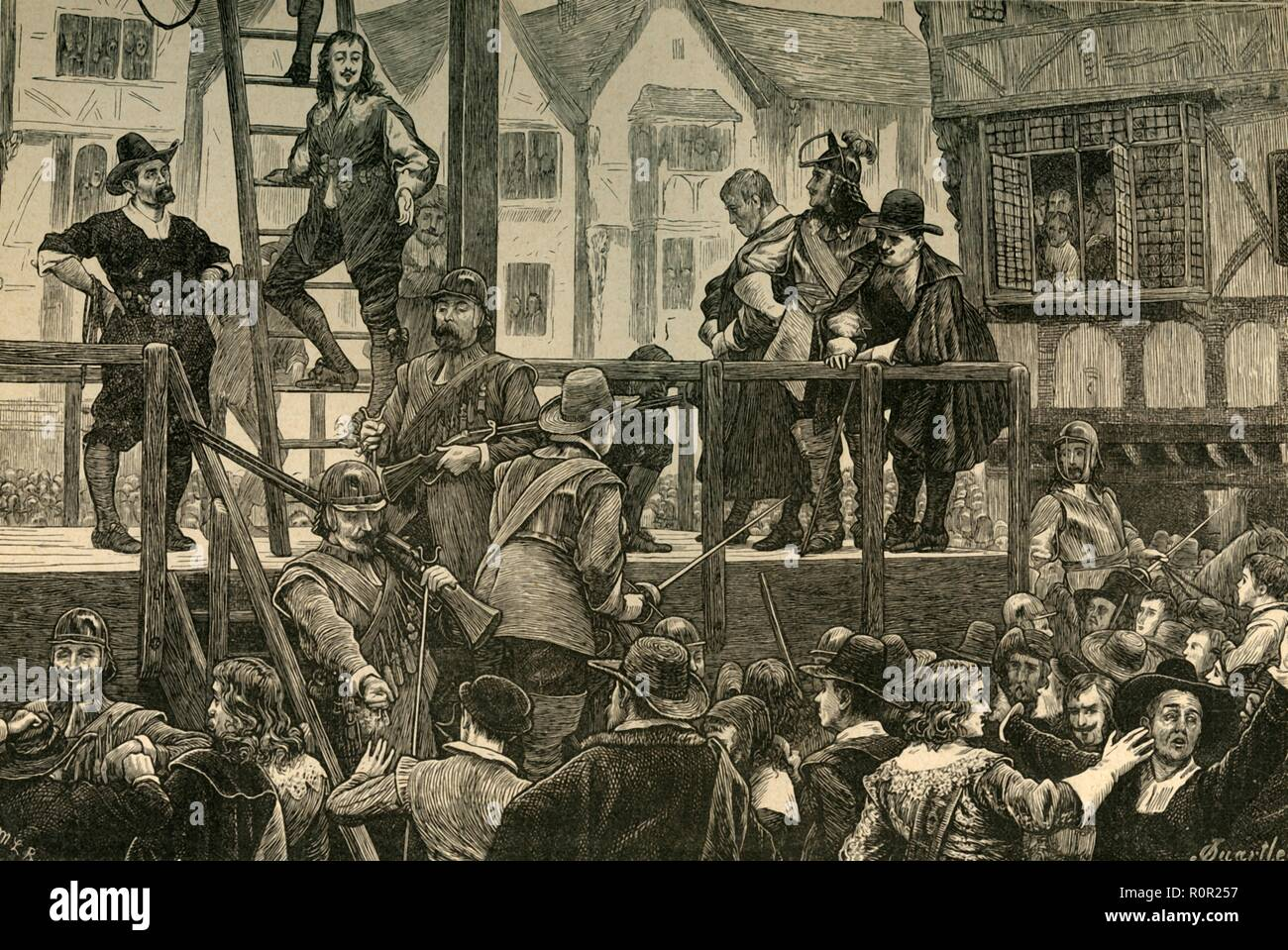 'Execution of Tomkins and Challoner', (1897).  Creator: Unknown. Stock Photo