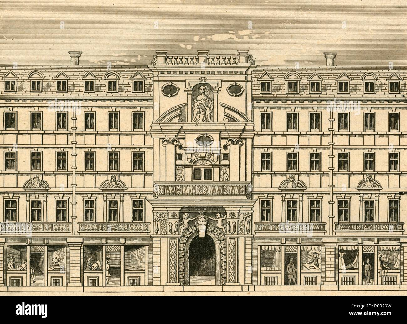 'Mercers' Chapel, as rebuilt after the fire', 1897. Chapel of the Worshipful Company of Mercers in the City of London. The second Hall and chapel, designed by Edward Jarman and John Oliver after the previous building was destroyed in the Great Fire of 1666, opened in May 1676. The Mercers' Company is the only City Livery Company to have its own private chapel. From Old and New London, Volume I, by Walter Thornbury. [Cassell and Company, Limited, London, Paris & Melbourne, 1897] - Stock Image