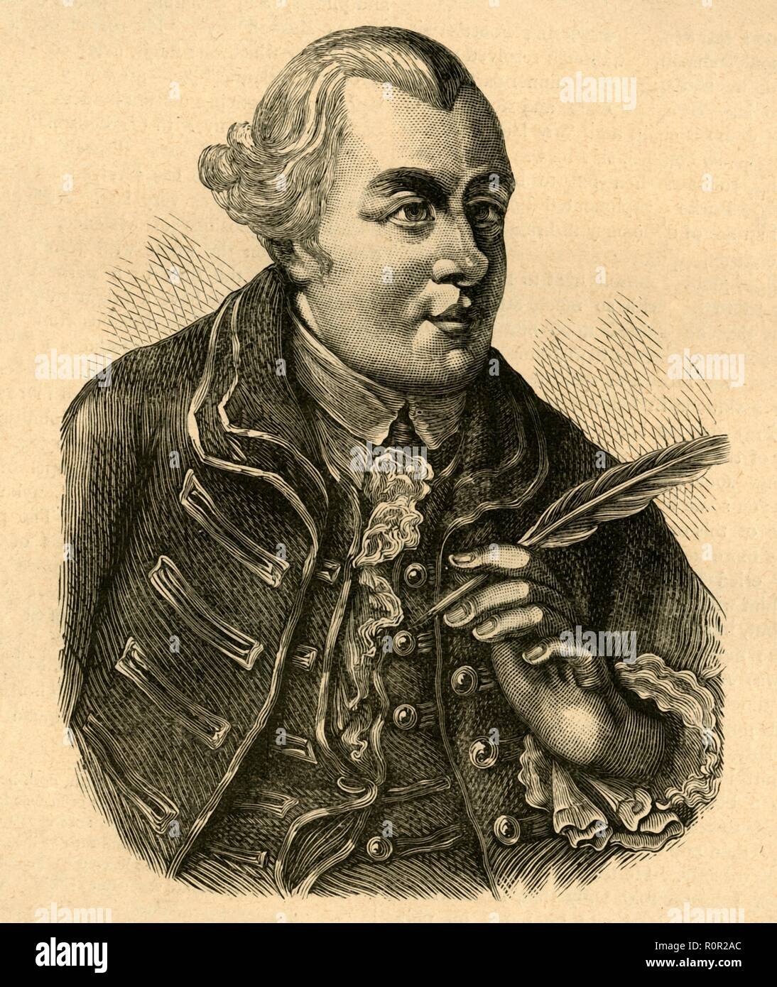 'John Wilkes', (1897). Portrait of English journalist and radical MP John Wilkes (1762-1763). On several occasions the London mob rose in his support and the streets resounded to cries of 'Wilkes and Liberty'. From Old and New London, Volume I, by Walter Thornbury. [Cassell and Company, Limited, London, Paris & Melbourne, 1897] - Stock Image