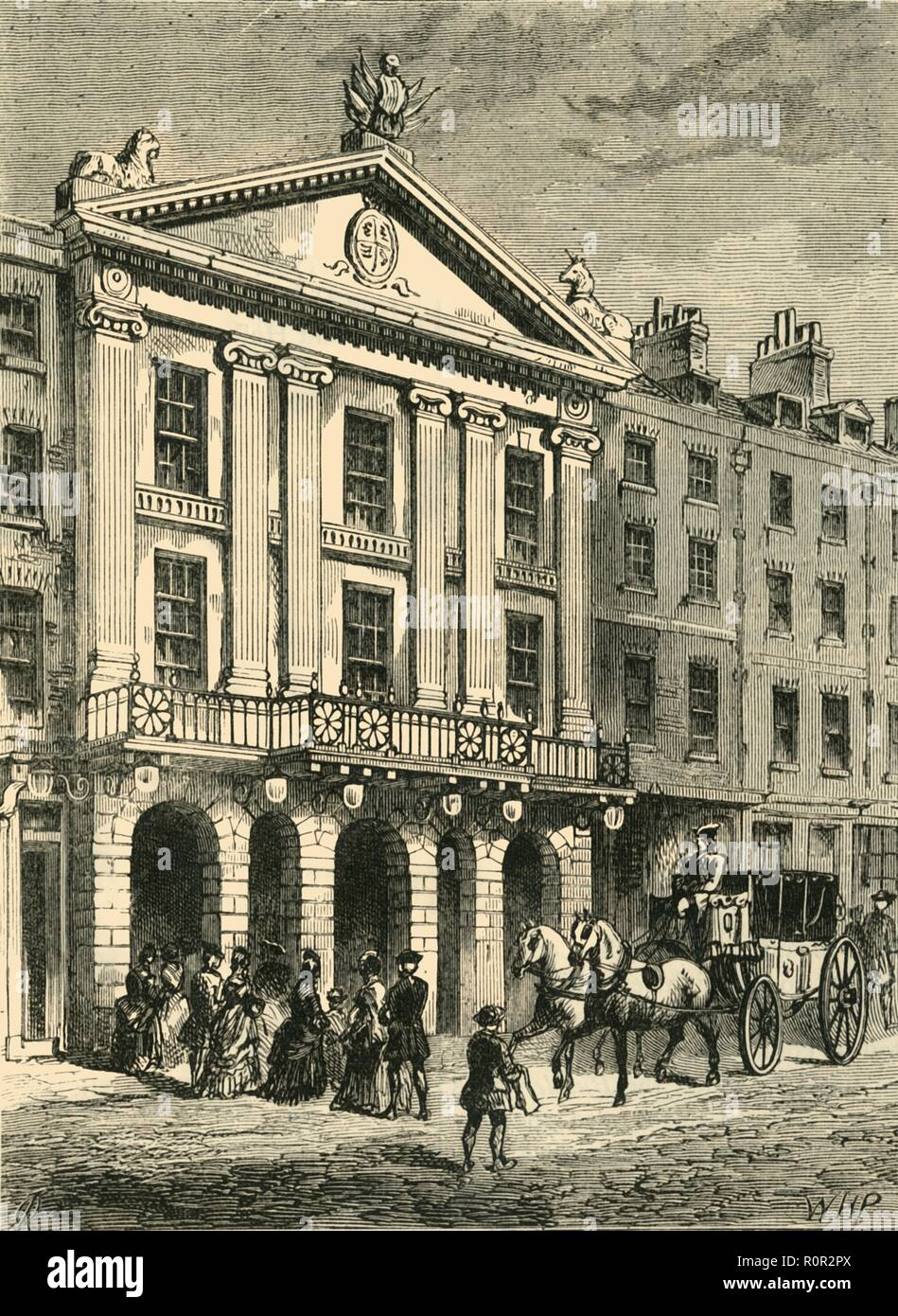 'Front of Old Drury Lane Theatre', (1881). Creator: Unknown. - Stock Image