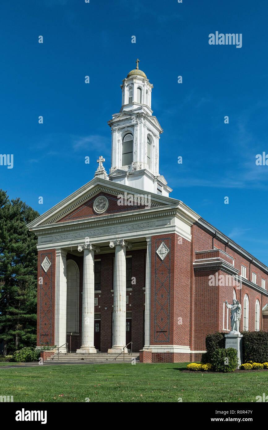 St Elizabeth Ann Seaton church, Northampton, Massachusetts, USA. - Stock Image