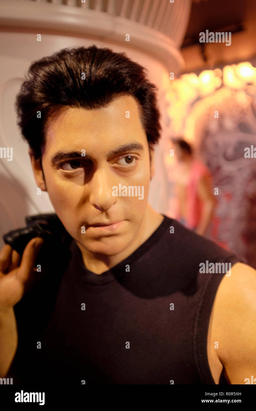 Wax figure of Salman Khan at world renowned tourist attraction Madame Tussauds Wax museum in London, United Kingdom. - Stock Image