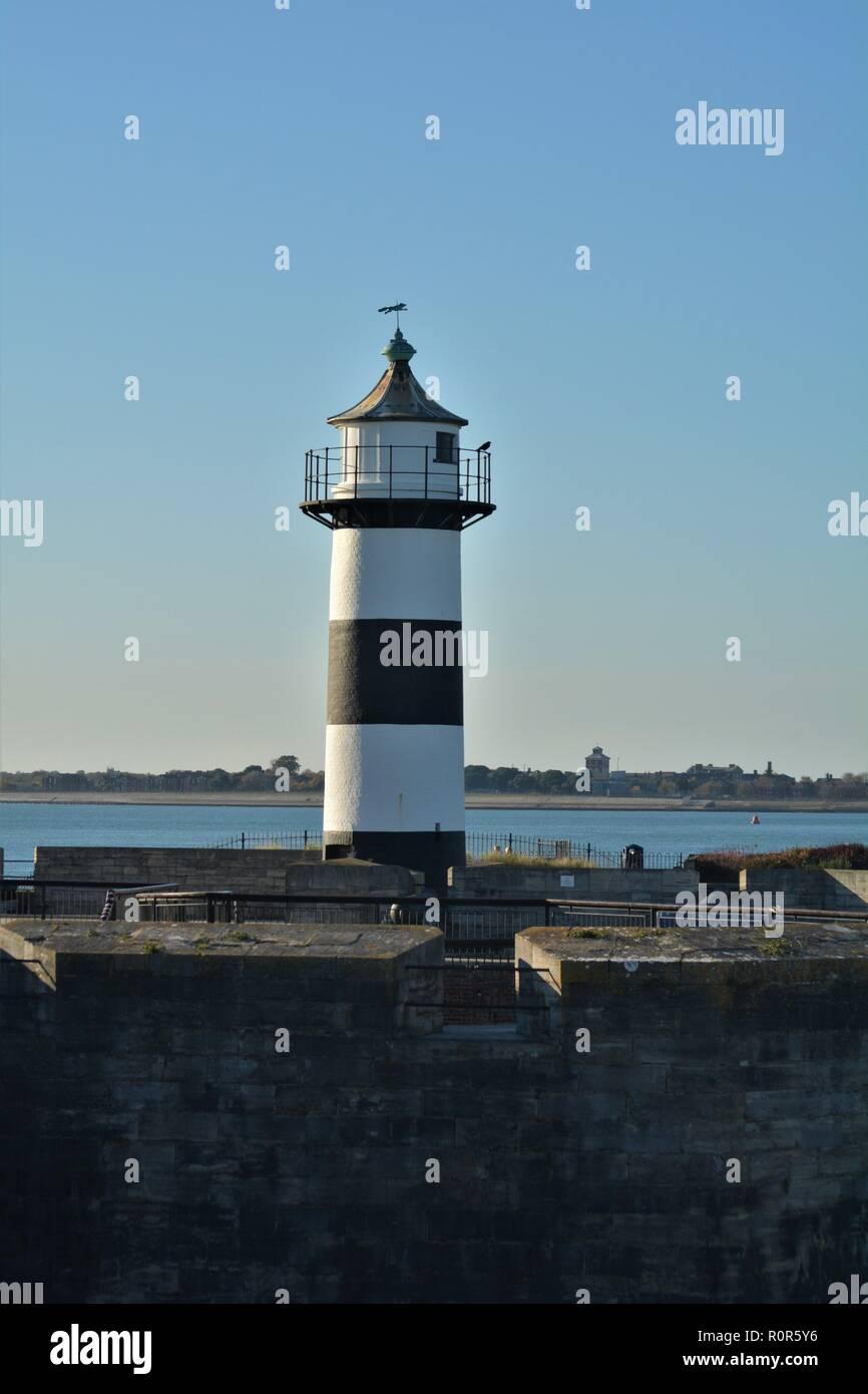 Southsea castle light house Stock Photo