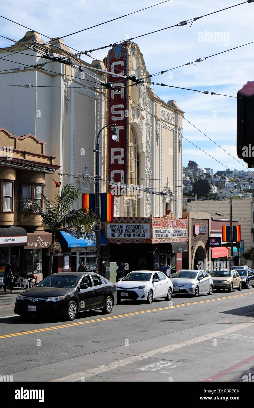 Iconic Castro Theater, on Castro Street, in the Castro District, San Francisco, California. - Stock Image