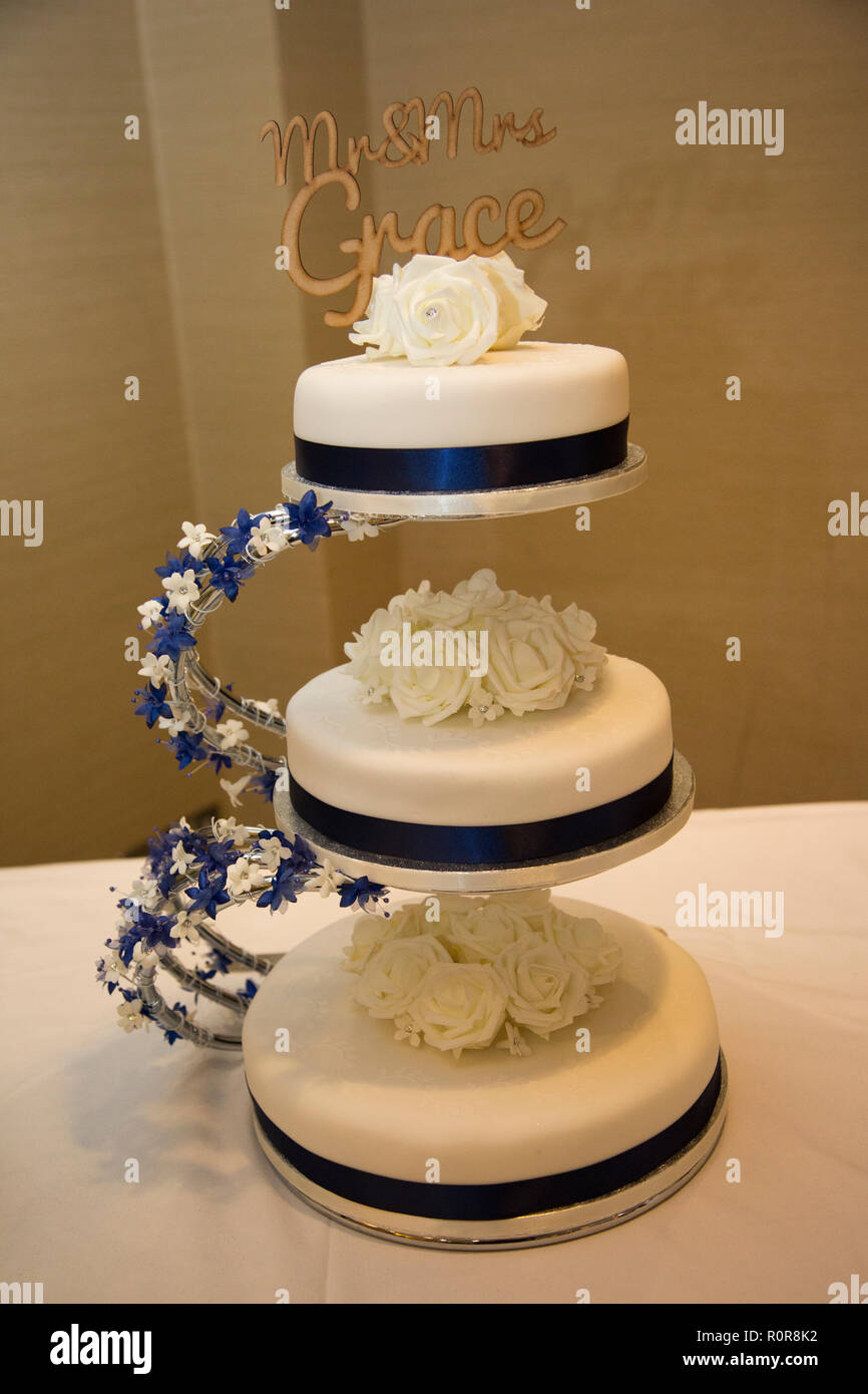Three Tear Wedding Cakes.Three Tier Cake Stock Photos Three Tier Cake Stock Images Alamy