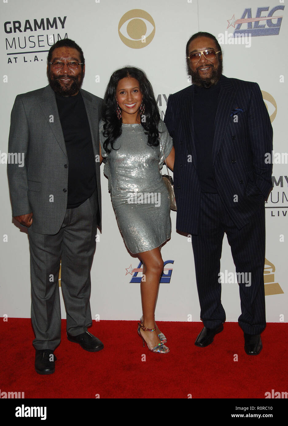 Brian and Eddie Holland with Felisa Mirasol   -  The GRAMMY Nominations Concert Live!! Ñ Countdown To Music's Biggest Night at the Nokia Theatre in Lo - Stock Image