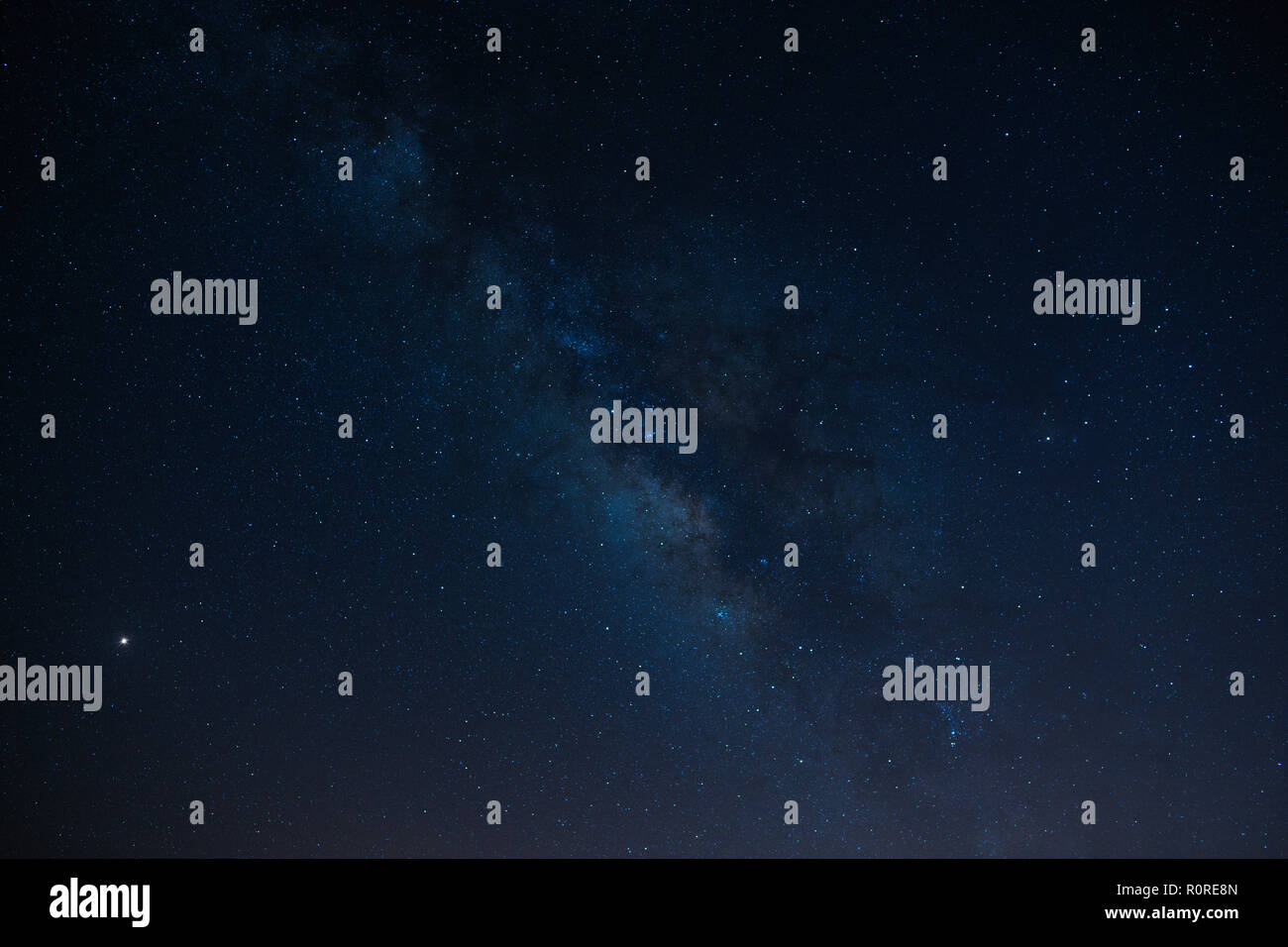Starry sky with Milky Way, Night scene, Tenerife, Canary Islands, Spain - Stock Image