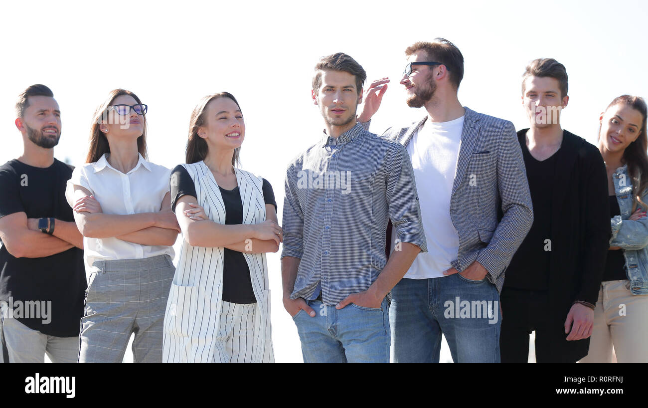 team of successful young people - Stock Image
