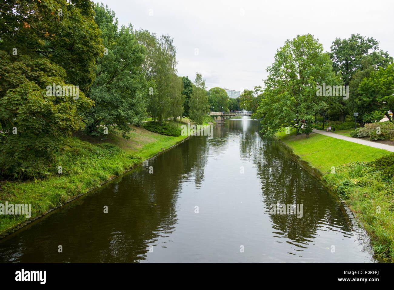 Riga, Latvia's capital, Bastion Hill Park - Stock Image