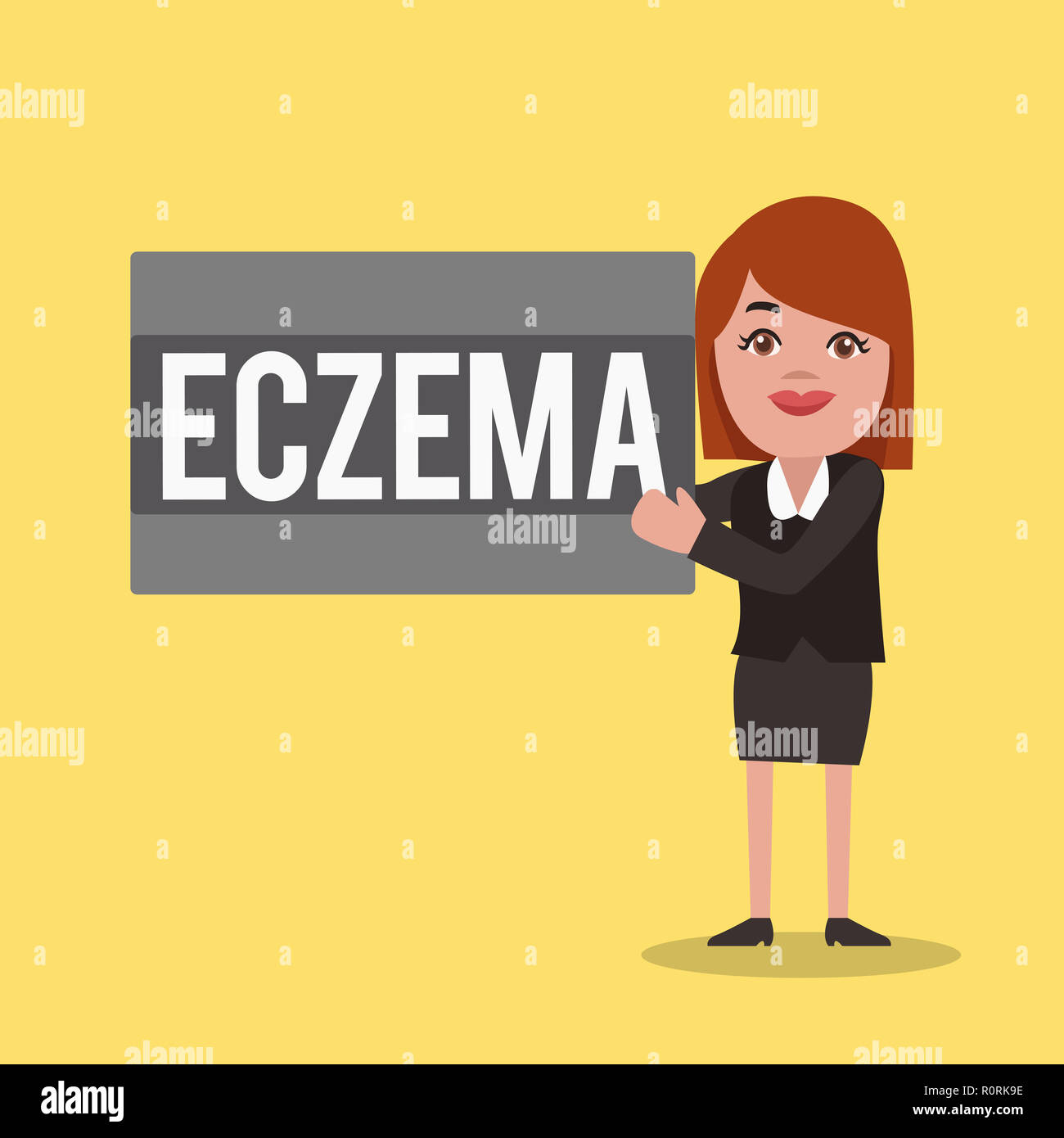 Word writing text Eczema  Business concept for Skin