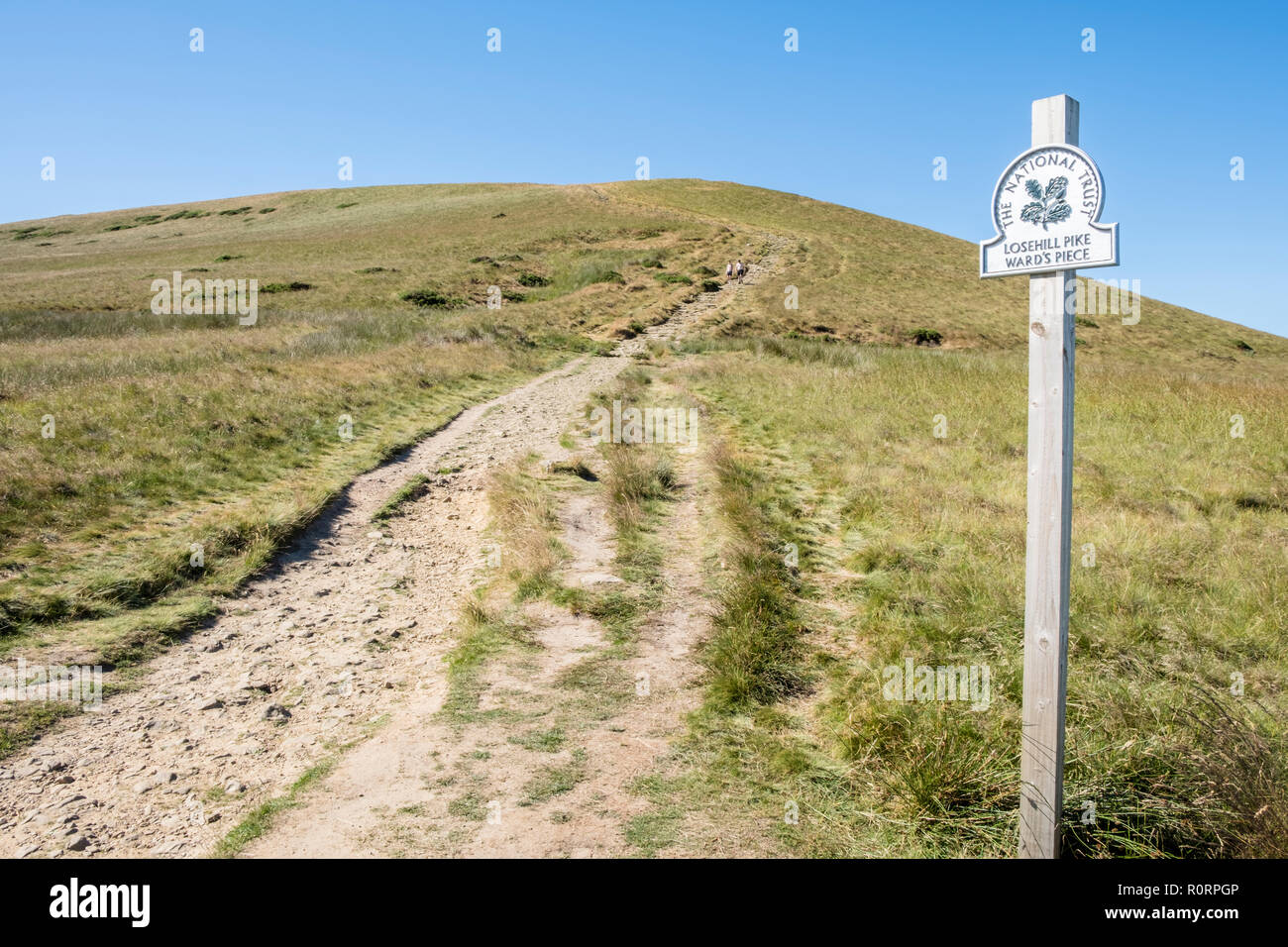 Lose Hill, also known as Losehill Pike or Ward's Piece at the end of the Great Ridge, Derbyshire, England, UK - Stock Image