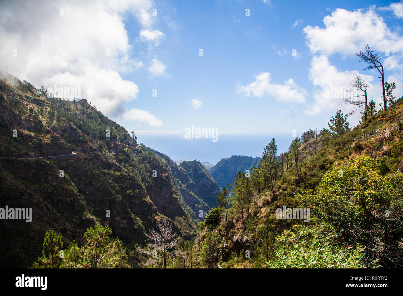 View of Curral das freiras valley, Madeira Island, Portugal - Stock Image