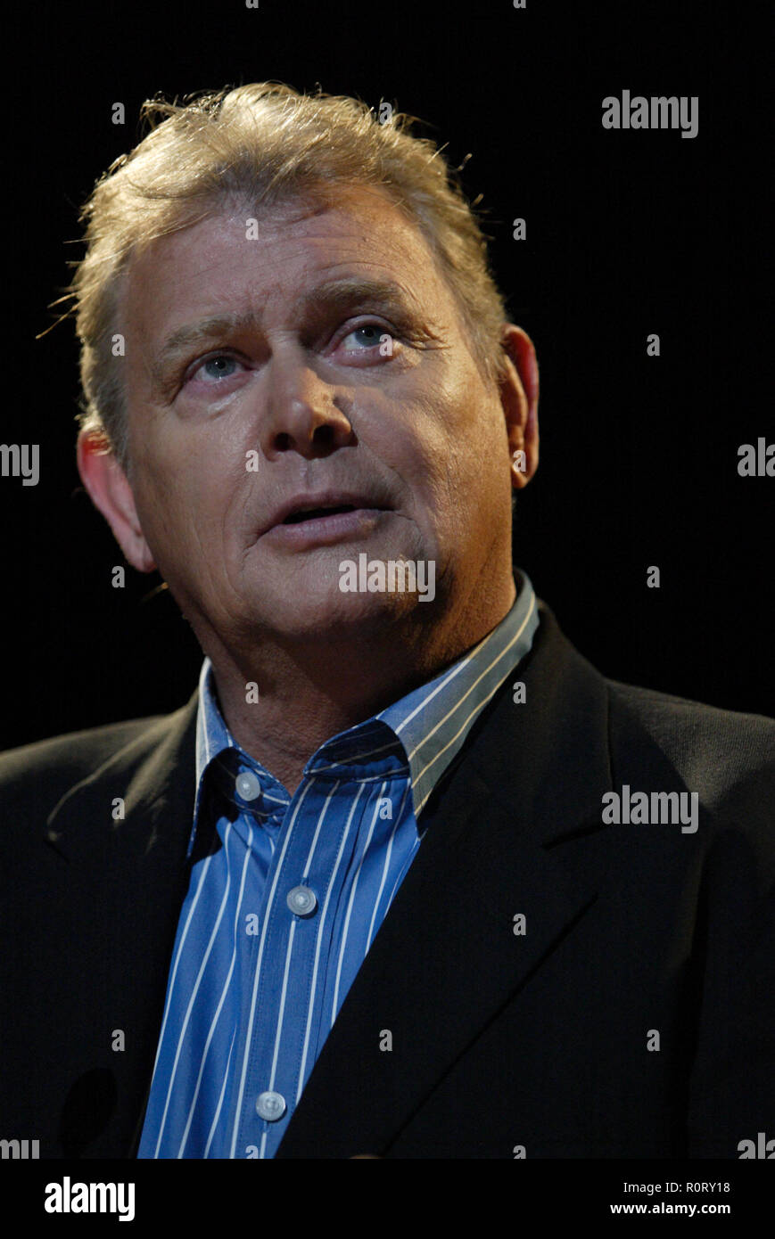 John Farnham holds a press conference at the Lyric Theatre in Star City Casino to announce his 'Live By Demand' tour being held in small, intimate venues across Australia in September and October of 2009.   During the press conference, Farnham stated that his return to live music was inspired by Chris Martin and Coldplay after they invited him to share the stage for their performance during the Sound Relief concerts held simultaneously in Sydney and Melbourne on March 14, 2009, to raise funds for victims of Australian bushfires.  Farnham also declared that his fondness for his fan-base inspire Stock Photo