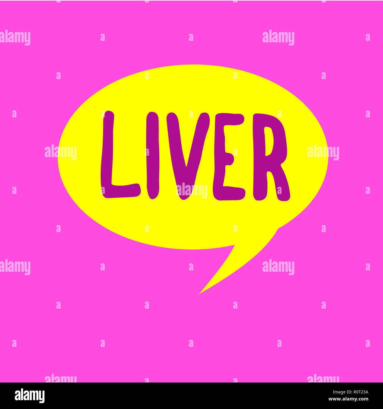 Writing Note Showing Liver Business Photo Showcasing Large Lobed