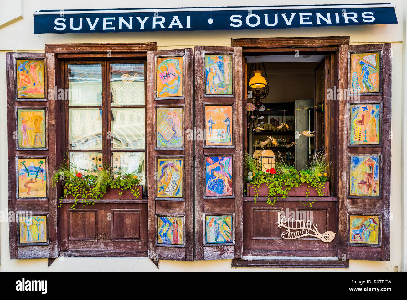 Gift shop. Kaunas, Kaunas County, Lithuania, Baltic states, Europe. - Stock Image