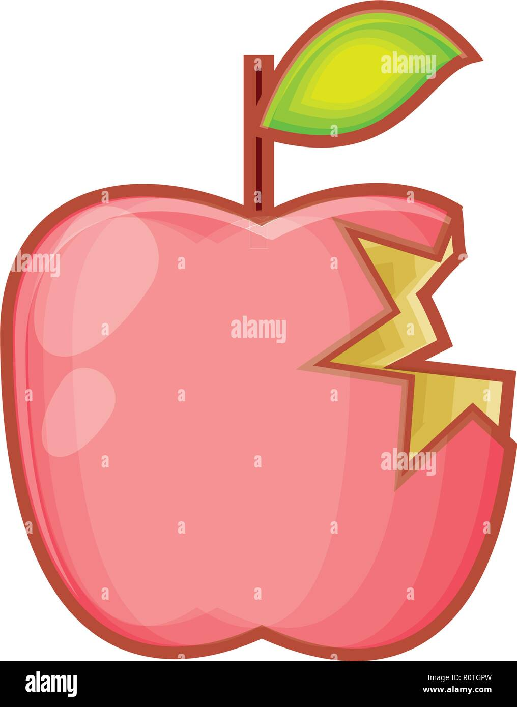 fresh apple fruit with bite vector illustration design