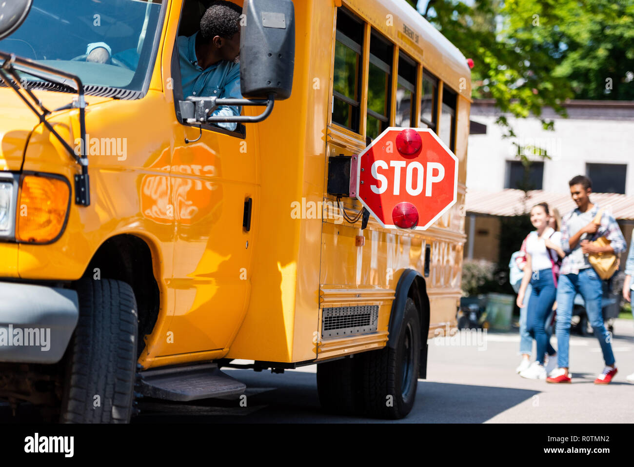 Teens doing the bus driver
