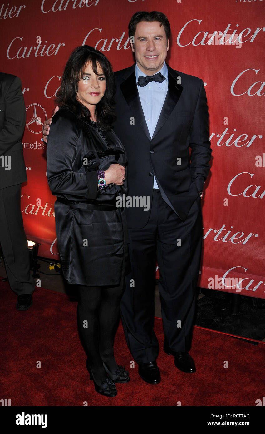 John Travolta Hairspray And Stockard Channing Arriving At The Palms Spring Film Festival Convention Center Full Length Fashion Eye Contact Smi Stock Photo Alamy