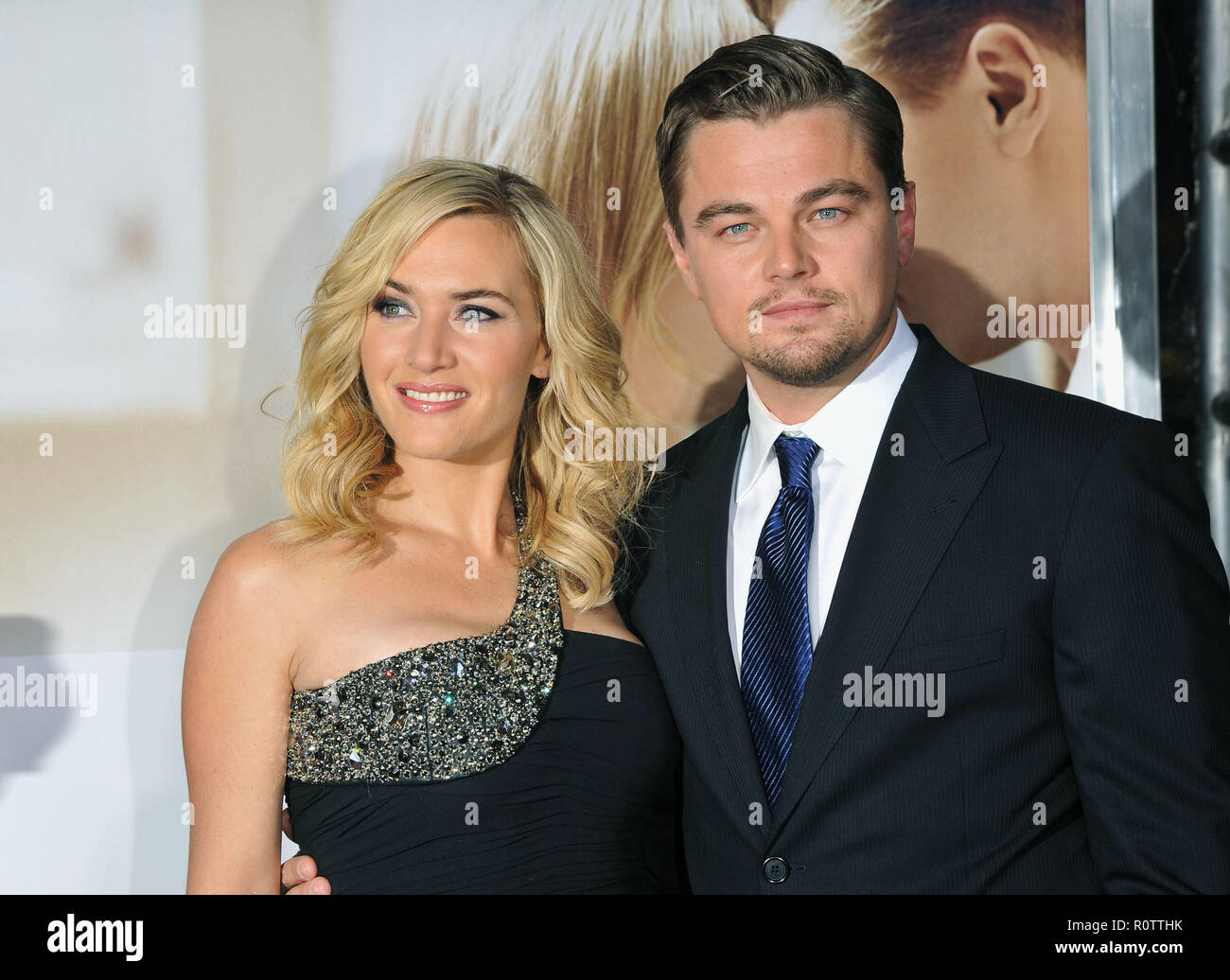 Kate Winslet And Leonardo Dicaprio Revolutionary Road Premiere At The Westwood Village In Los Angeles Winsletkate Dicapriole Stock Photo Alamy