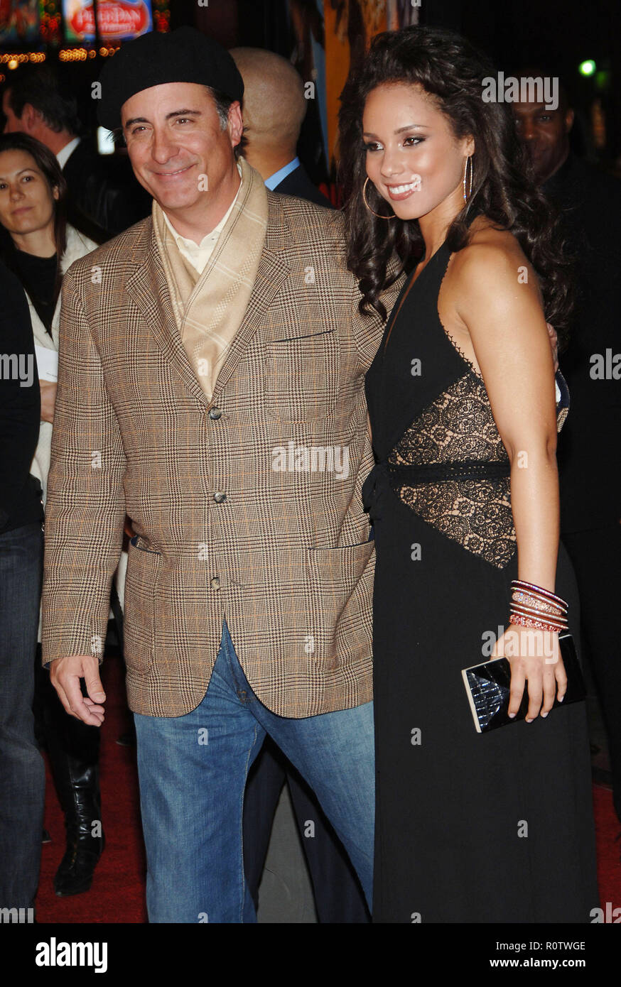 Andy Garcia and Alicia Keys arriving at the Smokin' Aces at the Chinese Theatre In Los Angeles. January 18, 2007.  smile 3/4          -            09_ - Stock Image