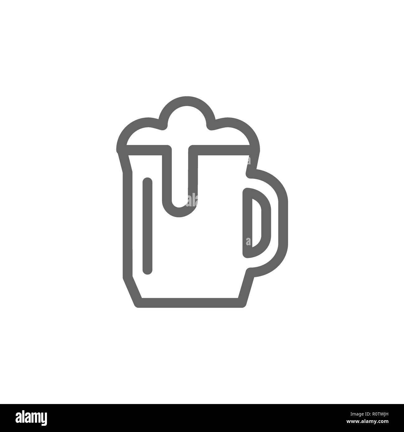 Simple Beer Mug Line Icon Symbol And Sign Illustration Design Isolated On White Background Stock Photo Alamy
