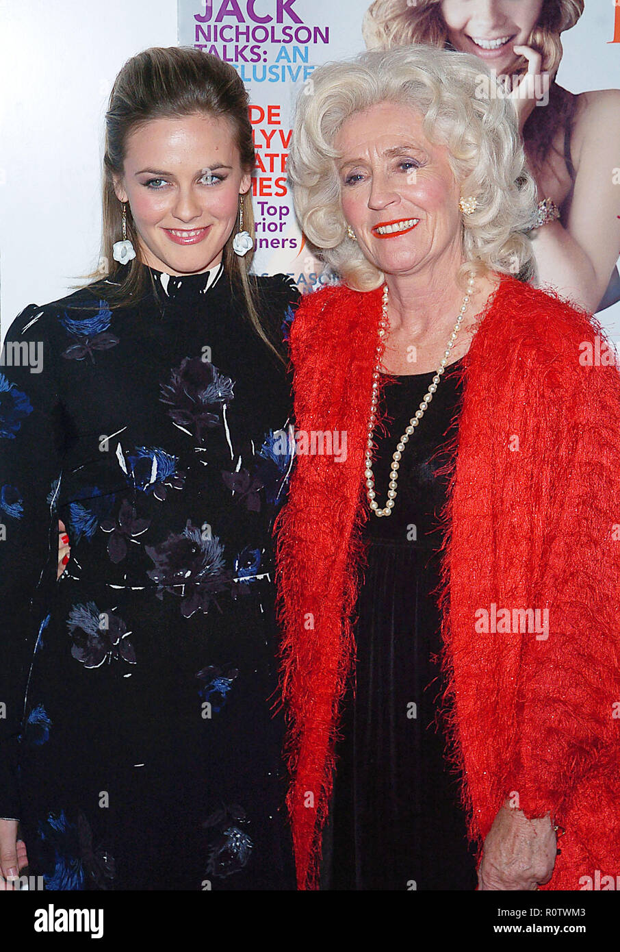 Alicia Silverstone and mom arriving at the Hollywood Life Magazine's 5th Annual Breakthrough of the Year Awards at the Henry Fonda Theatre in Los Ange - Stock Image