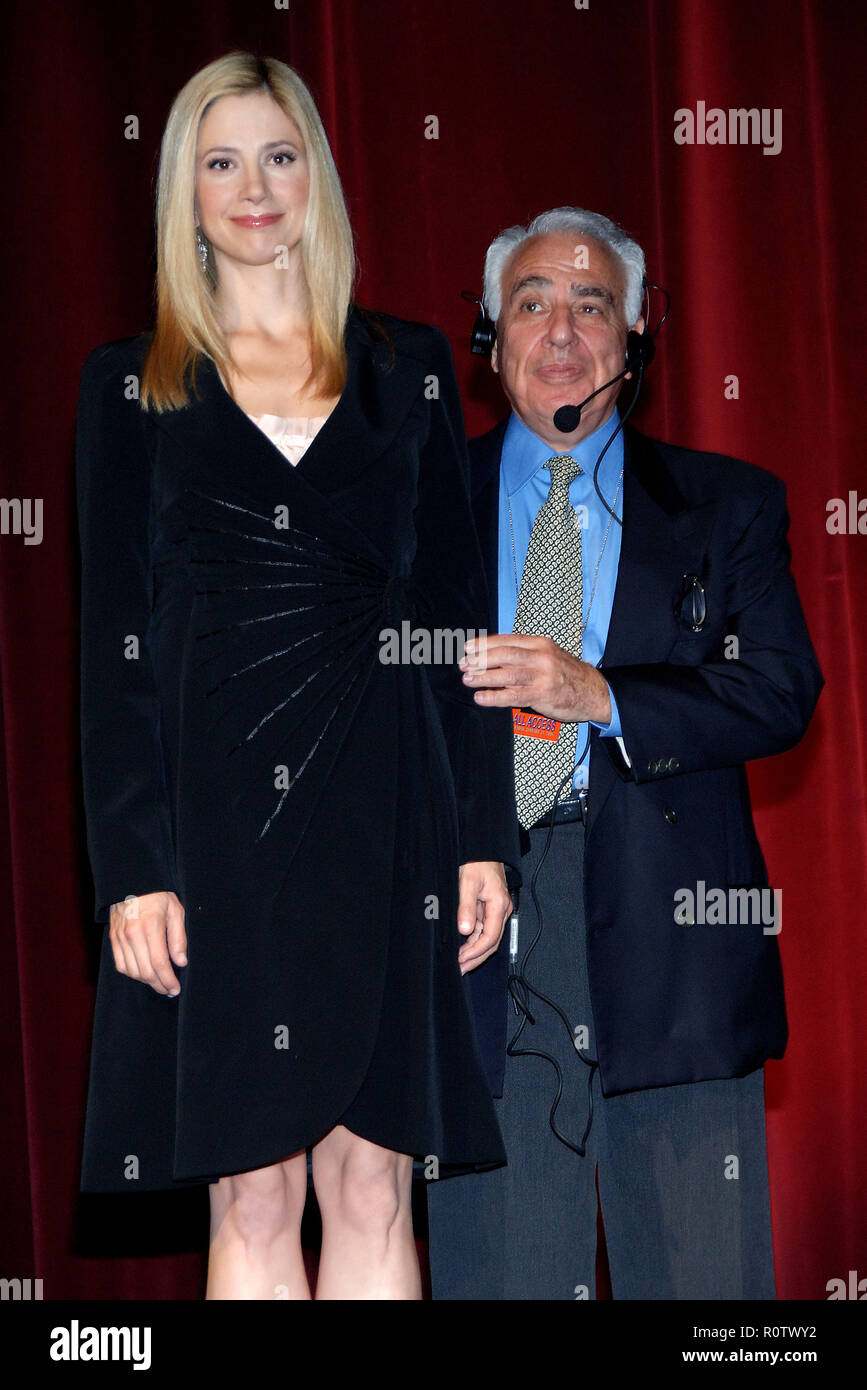 Academy President Sid Ganis And Oscar Winner Mira Sorvino Announced The Nominations For 78th Awards At Of Motions Pictures