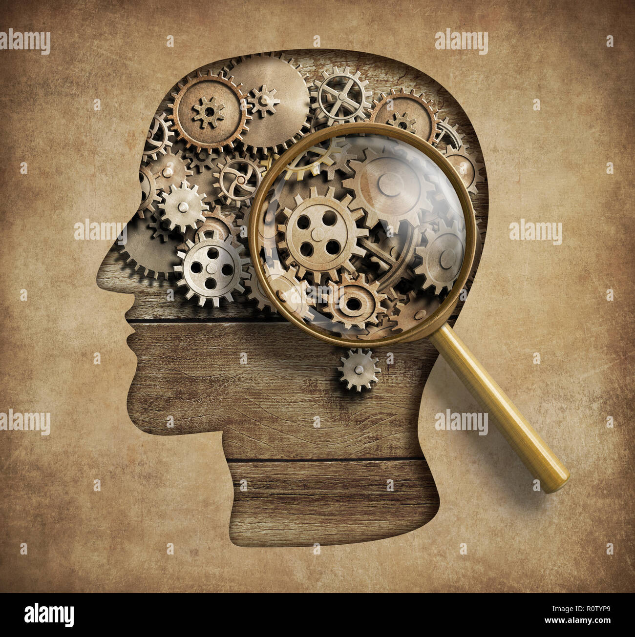 Psychology concept 3d illustration - Stock Image