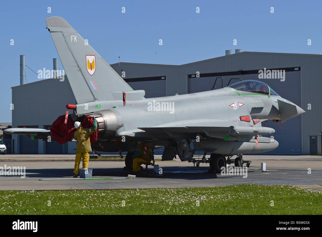 EUROFIGHTER TYPHOON GR4 serial number ZK325 at RAF 3 Squadron base