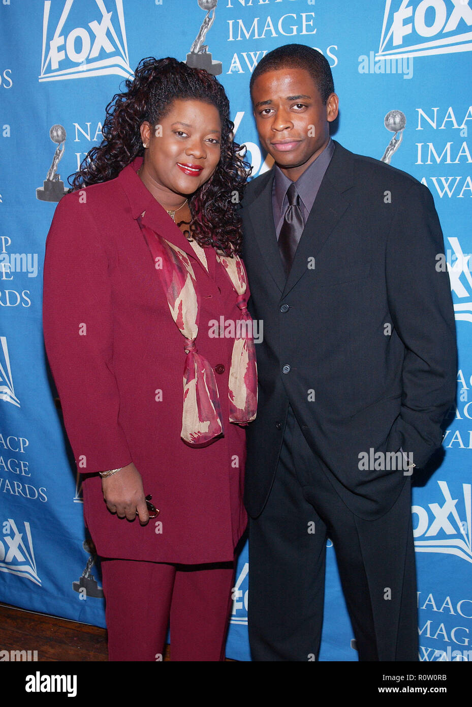 Loretta Devine and Dule Hill arriving at the 33rd luncheon NAACP Image Awards nomination  at the House of Blues in Los Angeles. January 26, 2002.      - Stock Image