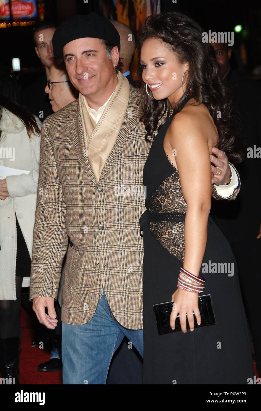 Andy Garcia and Alicia Keys arriving at the Smokin' Aces at the Chinese Theatre In Los Angeles. January 18, 2007.  3/4          -            GarciaAnd - Stock Image