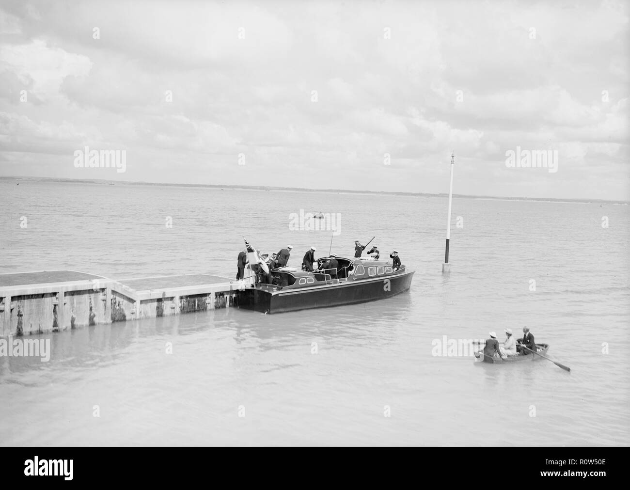 Royal Motor Barge, possibly Isle of Wight, c1939. - Stock Image
