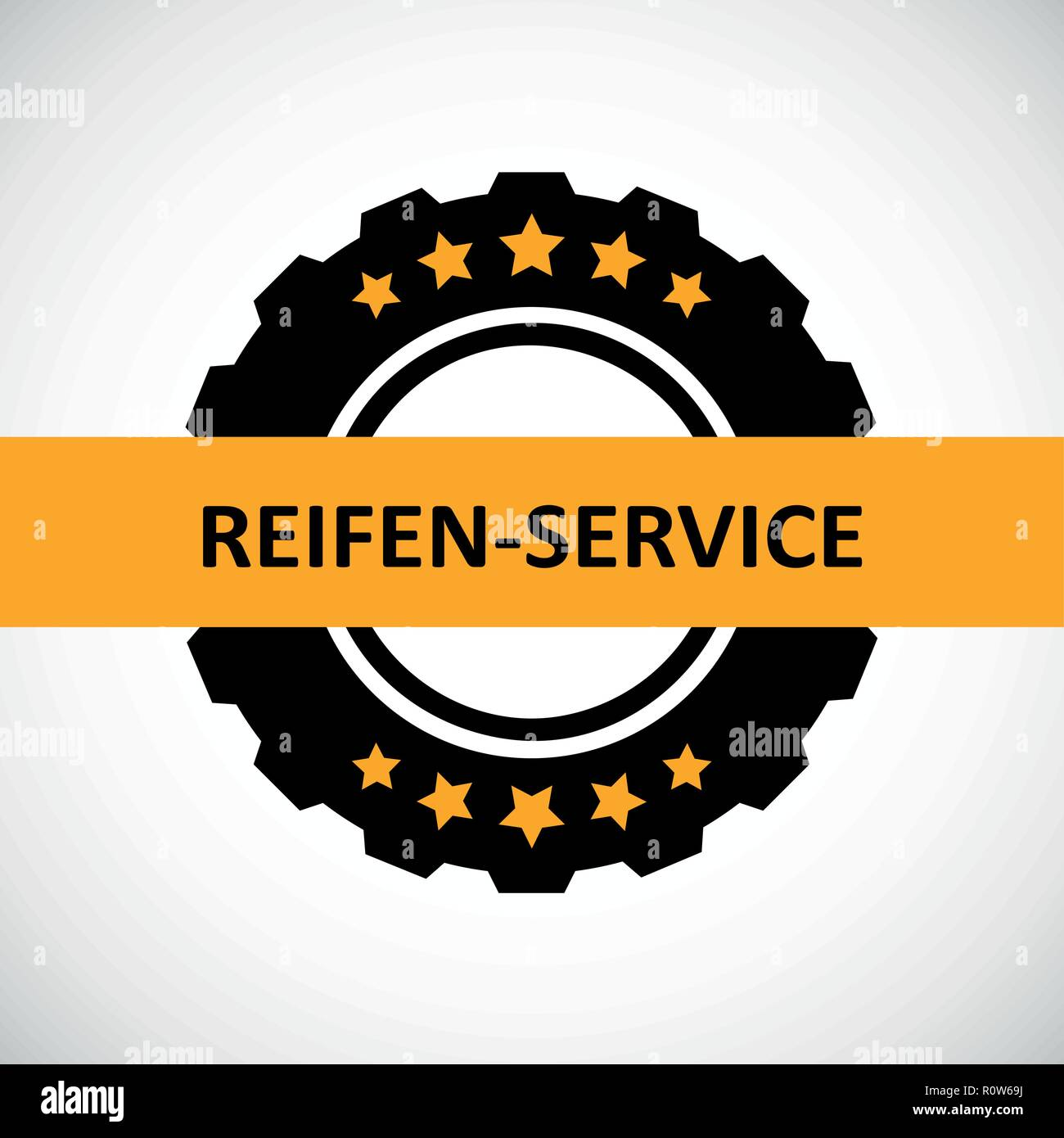 car tires service five stars vector illustration - Stock Vector