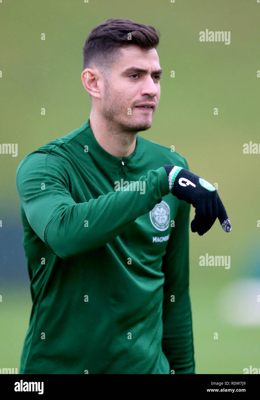 Celtic's Nir Bitton during the training session at Lennoxtown, Glasgow. - Stock Image
