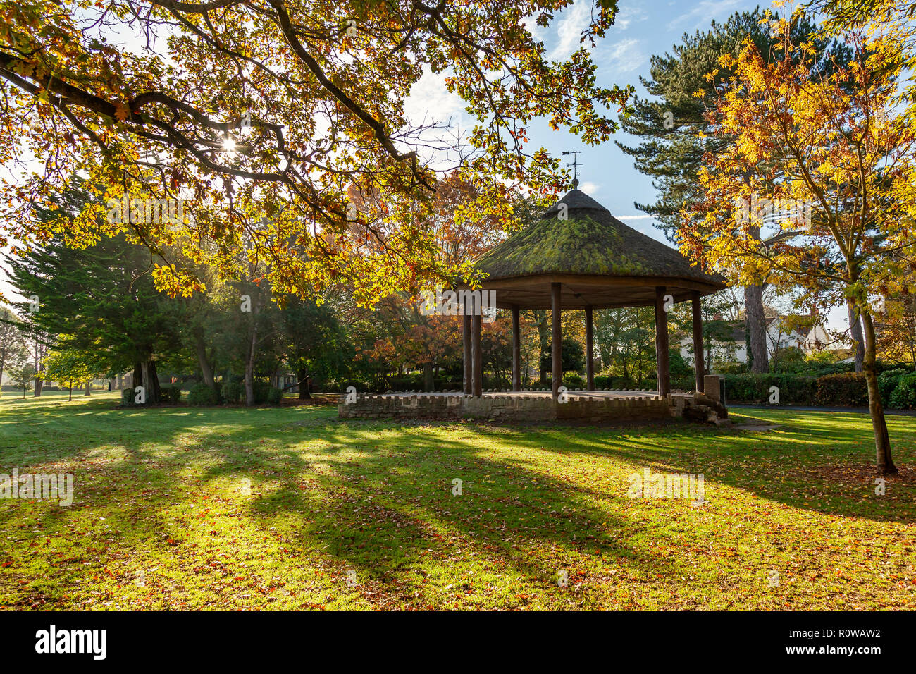 Bandstand at Victoria Park in Frome, Somerset, Uk - Stock Image