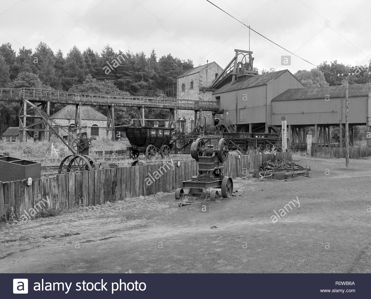 The 1900s coal pit colliery in beamish open air museum in county durham in england uk - Stock Image