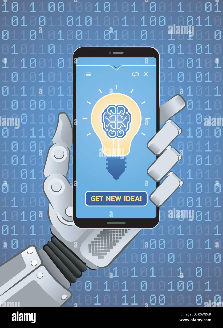 Get New Idea by Artificial Intelligence - Stock Image