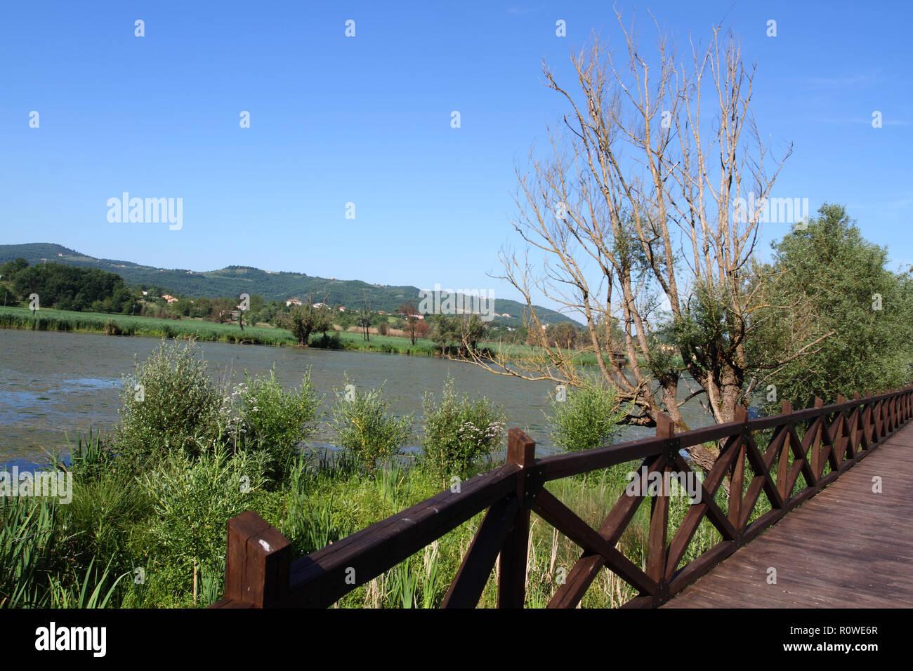 Posta Fibreno Lake - Frosinone - Lazio - Italy - Stock Image