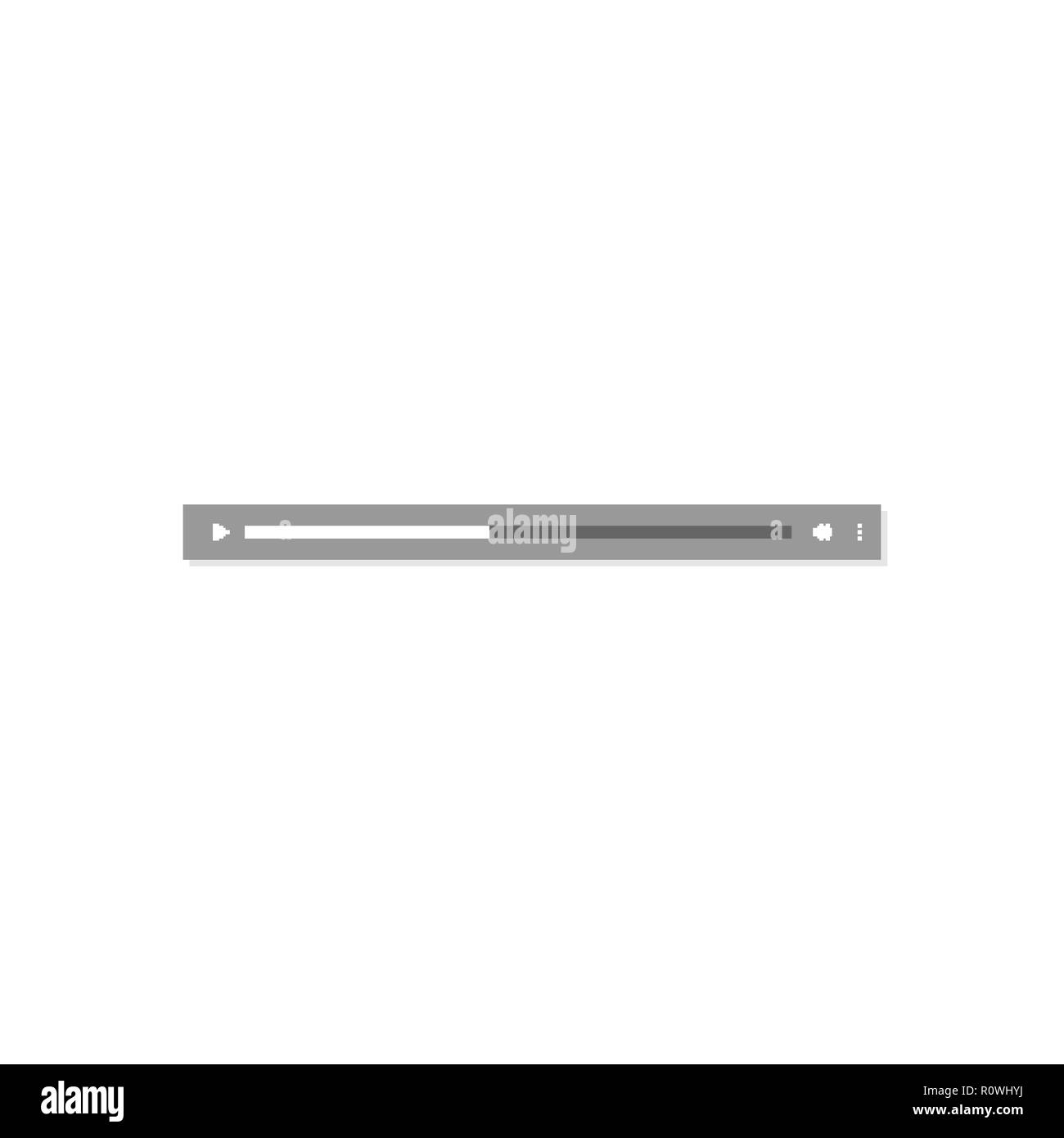 Simple audio message playback bar isolated on white background - Stock Image