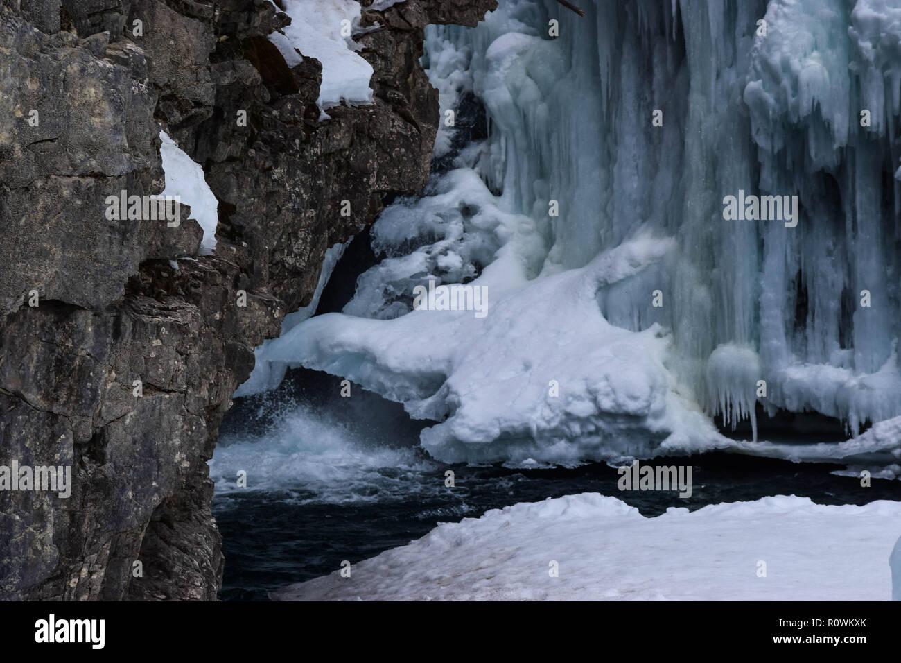 winter scenery in Alberta - Stock Image