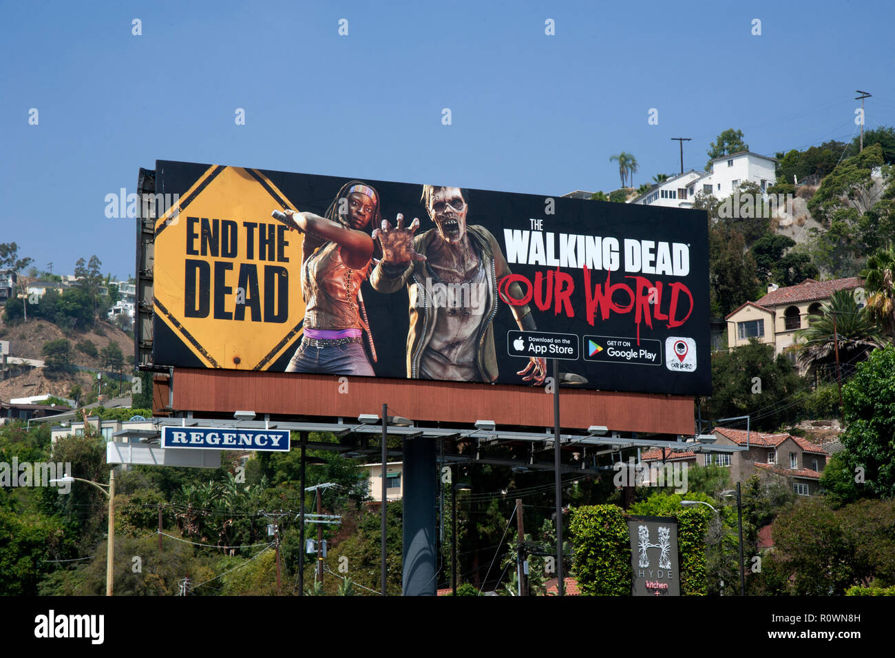 Walking Dead billboard Sunset Strip 2018 - Stock Image