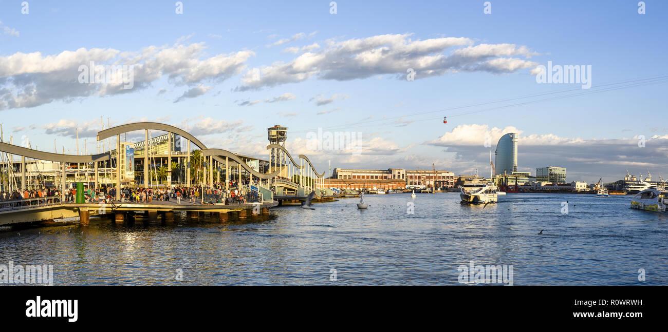 Neuer Hafen, Barcelona, Katalonien, Spanien - Stock Image