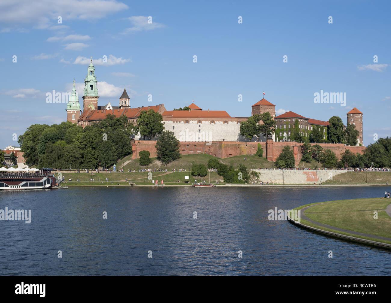 Krakau, Burg Wawel an der Weichsel, Polen - Stock Image
