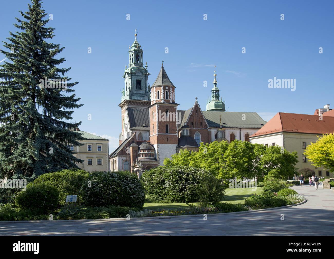 Krakau, Burghof Wawel, Polen - Stock Image