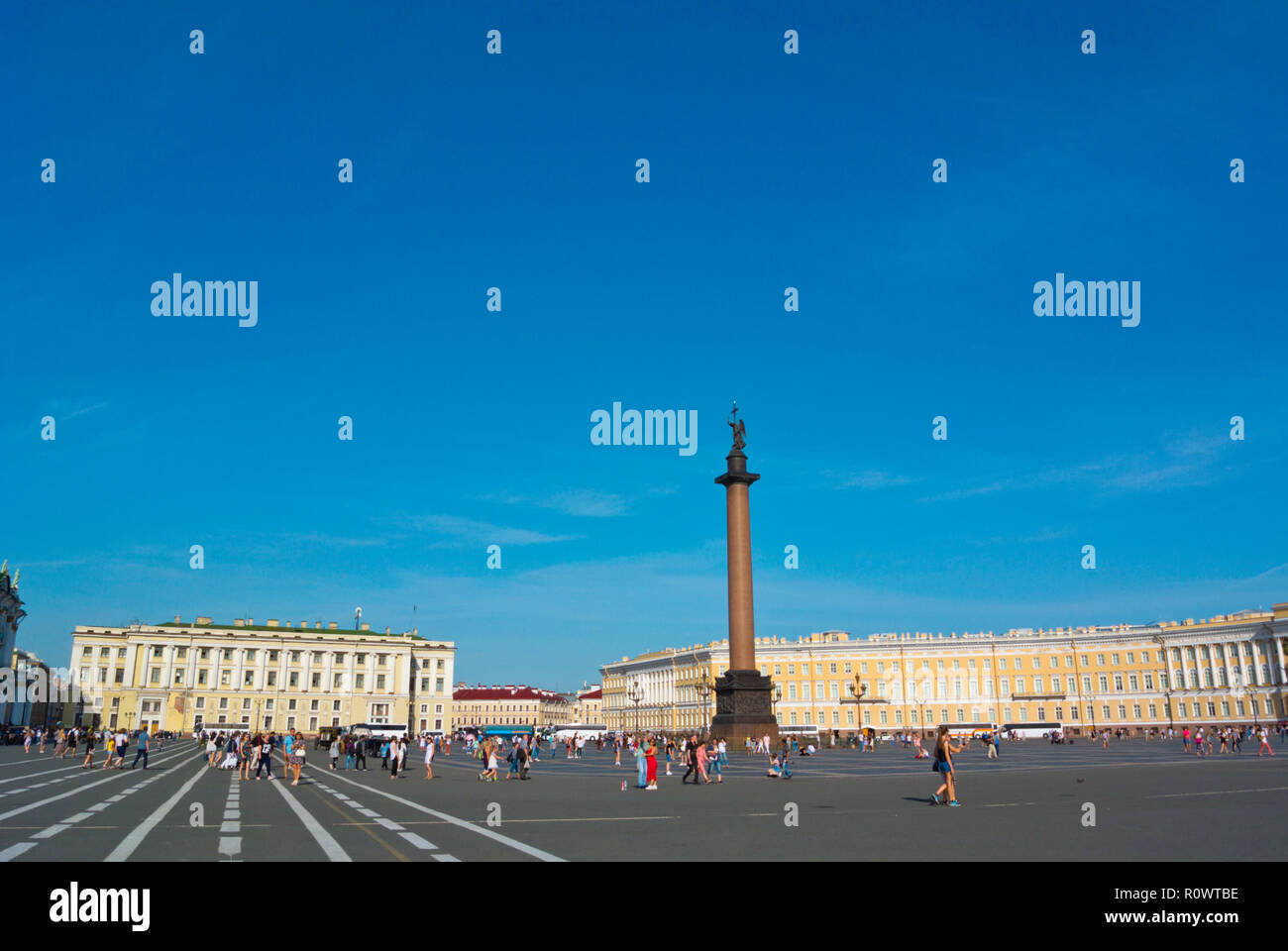 Palace Square, Saint Petersburg, Russia - Stock Image